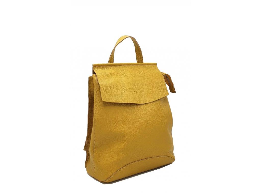 Kožený batoh hořčicový Kenny 8018 (4)