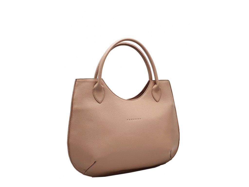 Kožená kabelka Brenda pudrová