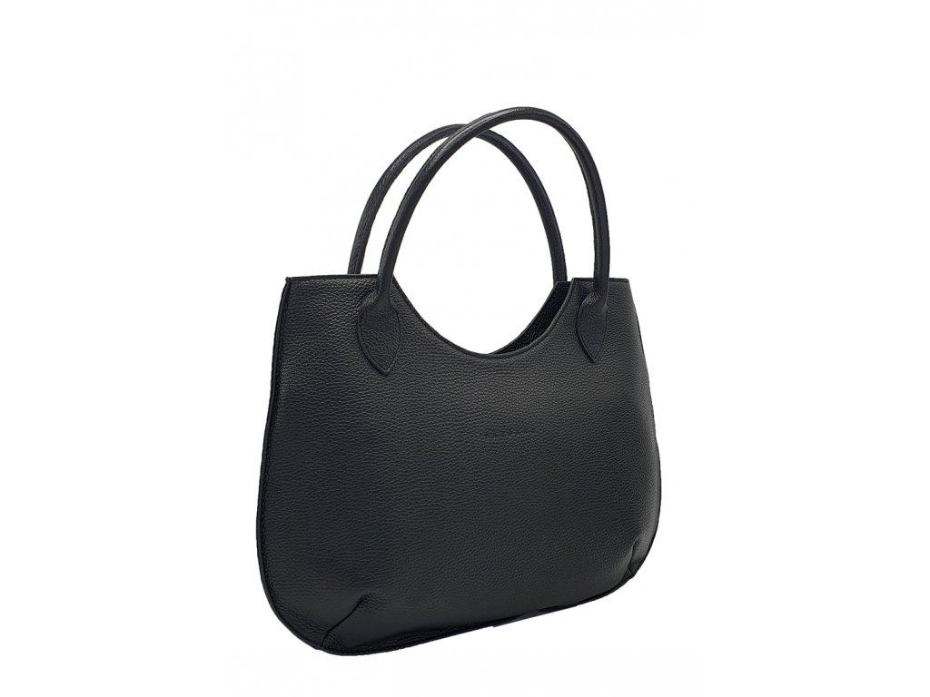 Kožená kabelka Brenda černá