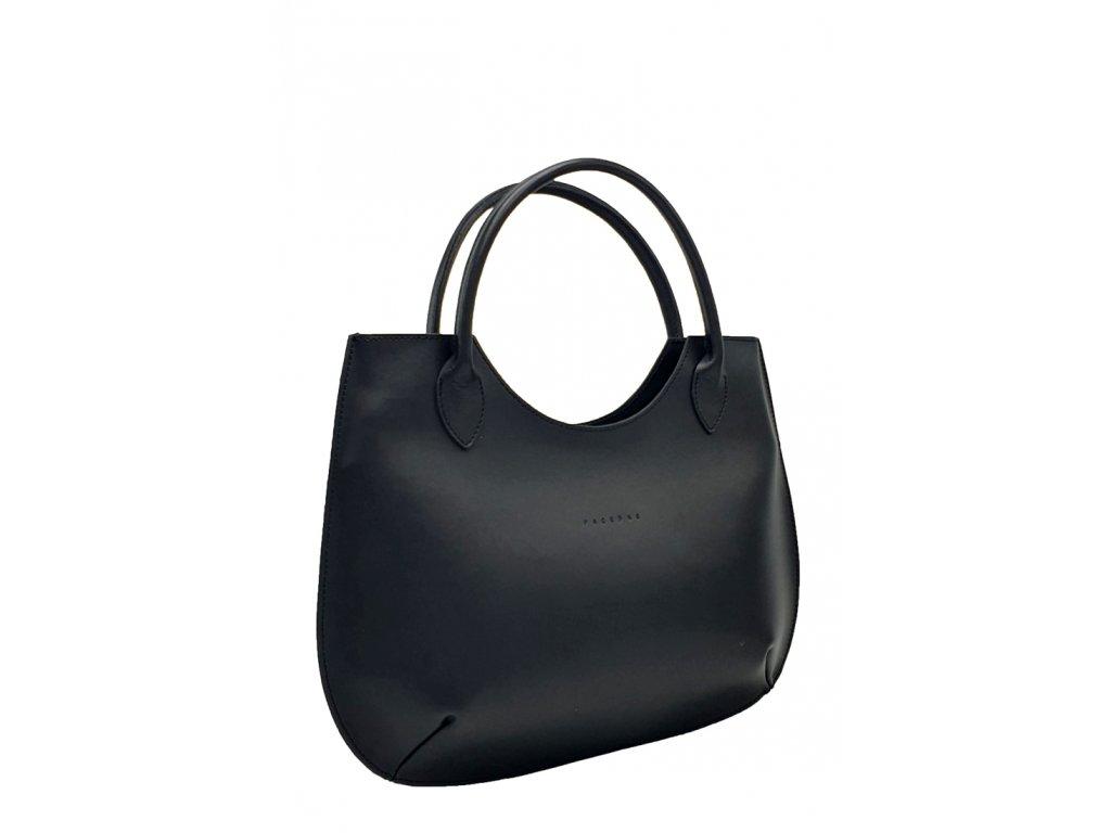 Kožená kabelka Brenda černá ruga