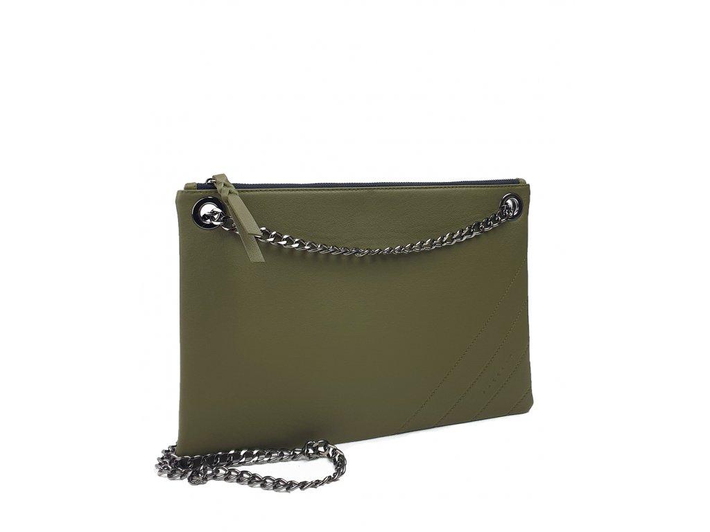 8038 150 elegantni damska kozena kabelka facebag erin tmava zelena hladka 1074x1300