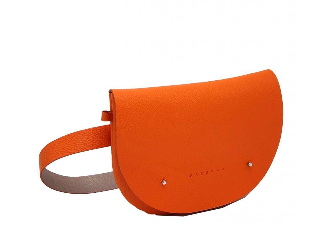 Kožená ledvinka oranžová oboustranna Kate 8063 (2)