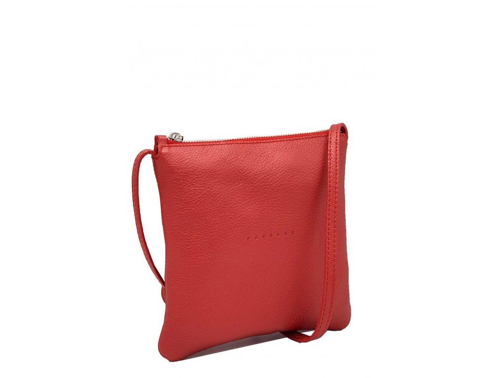 Kožená crossbody kabelka Lola červená metalická