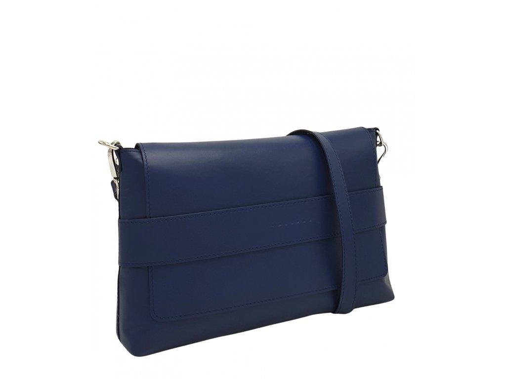 Kožená crossbody kabelka Fille modrá 8073 (4)