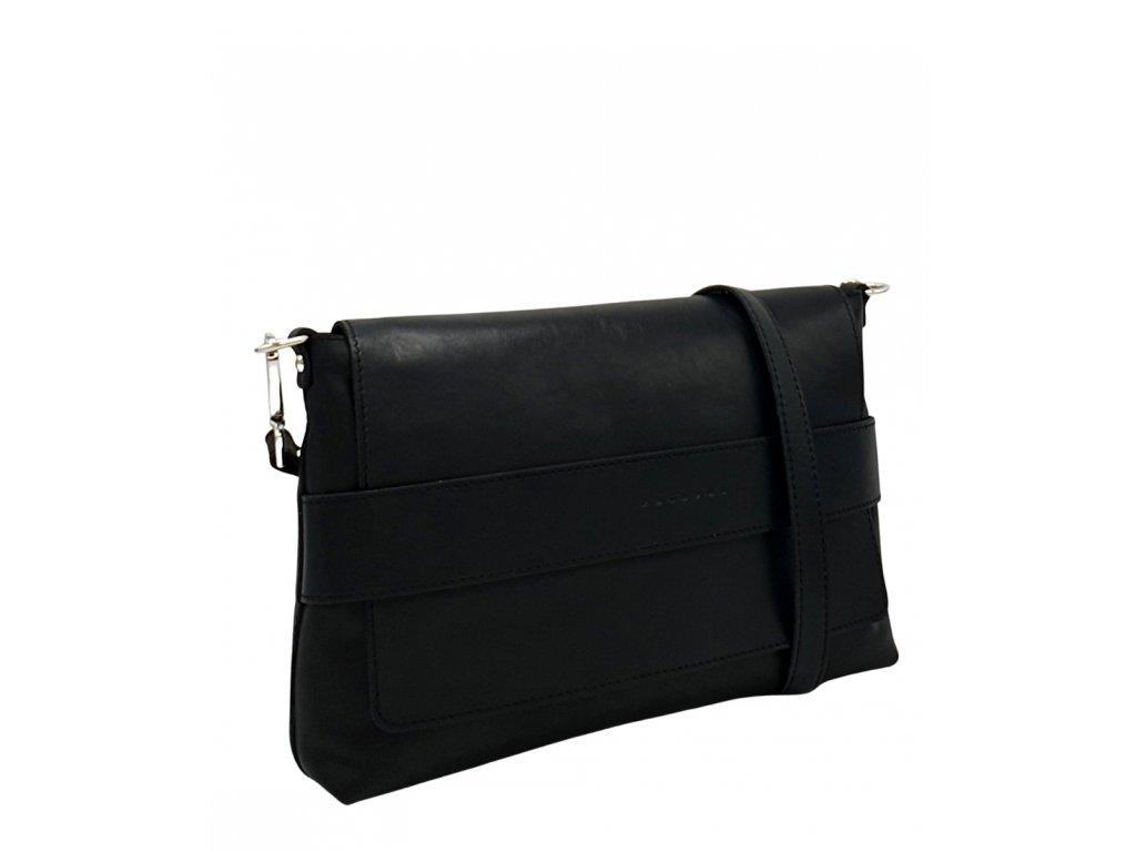 Kožená crossbody kabelka Fille čern hladká 8073 (5)