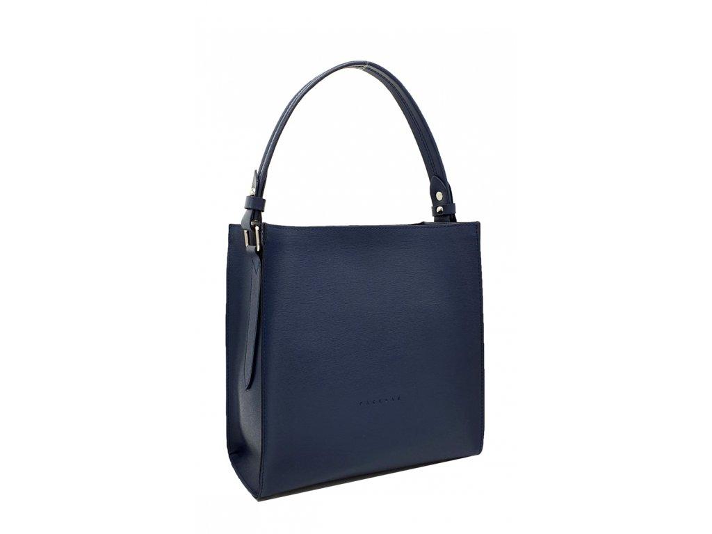 Kožená kabelka do ruky modrá Ange saffiano 8016 (1)