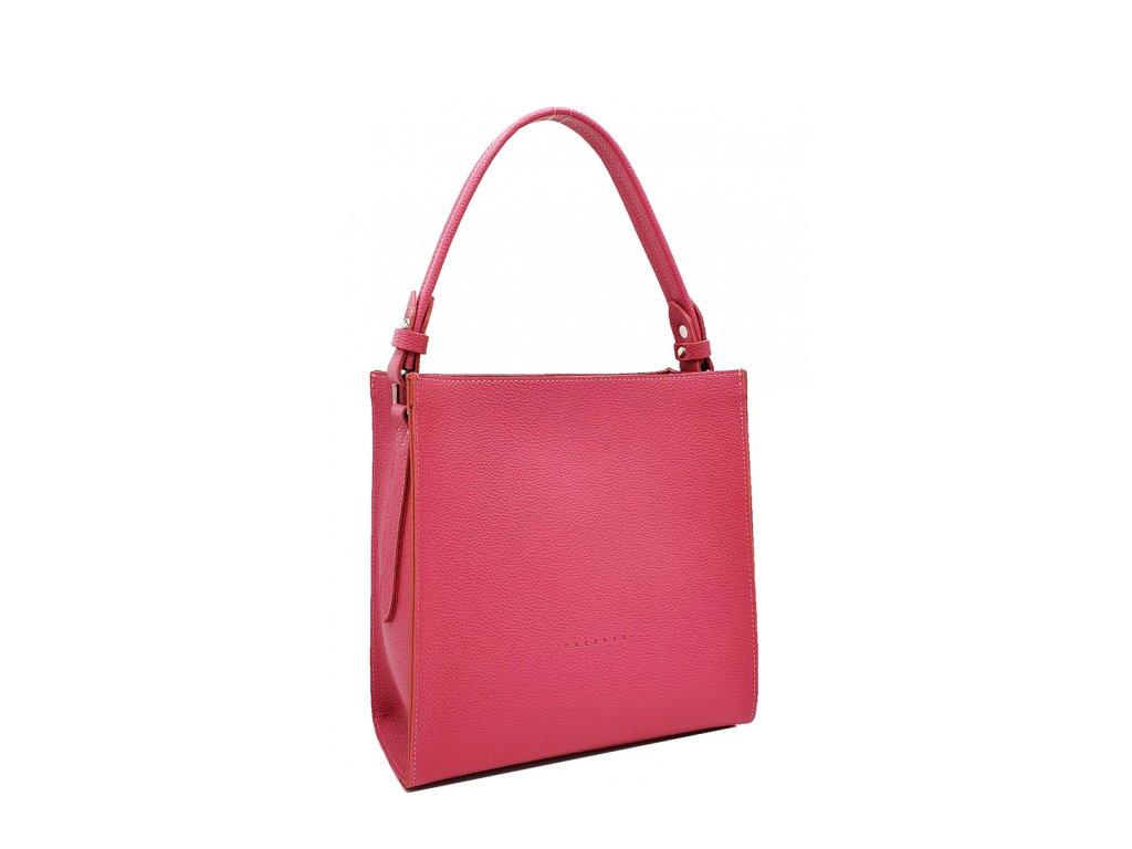 Kožená kabelka do ruky fuchsiová Ange 8016 (2)