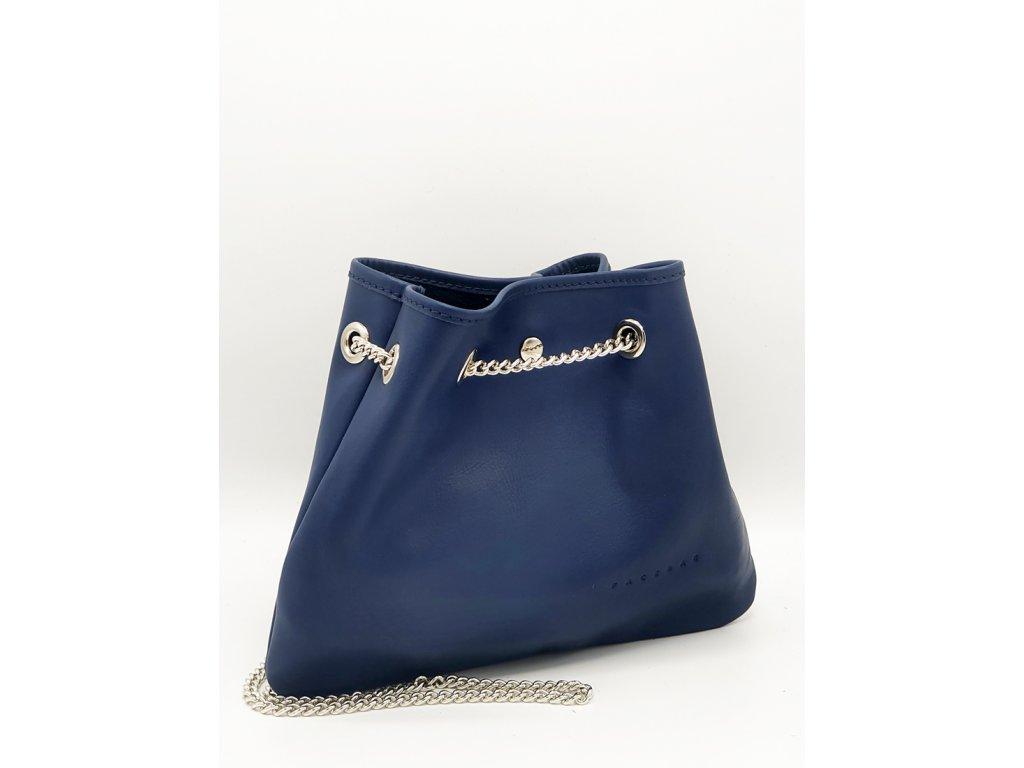 Kožená kabelka Jade modrá hladká
