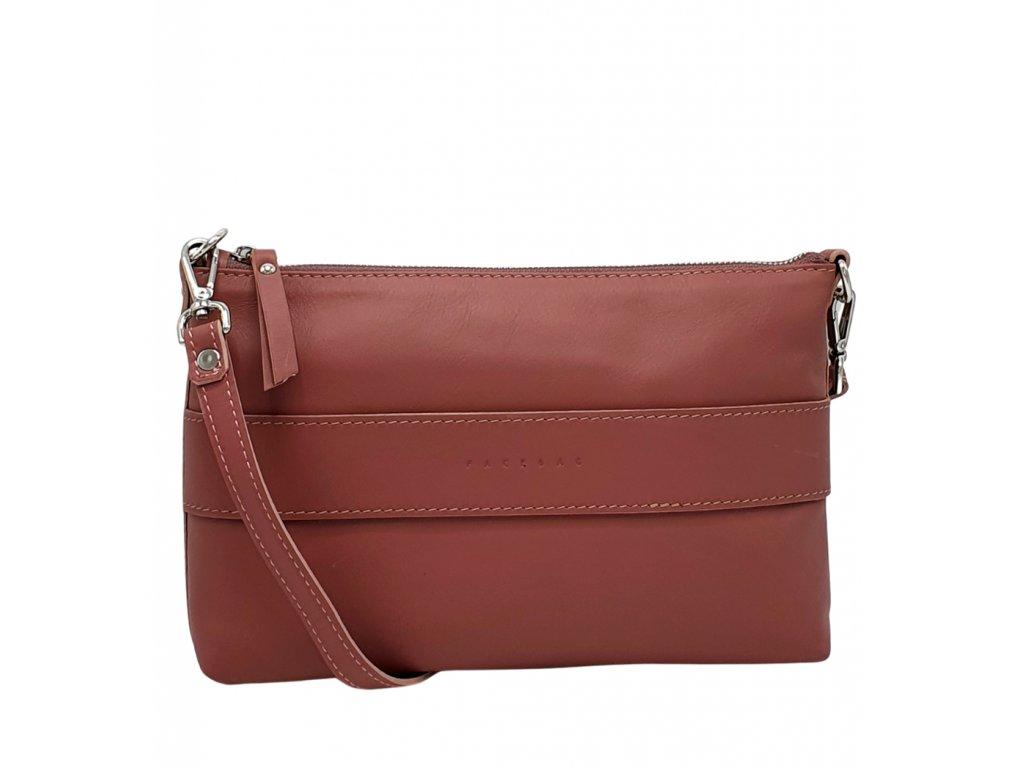 Kožená kabelka Mary liliová tmavá