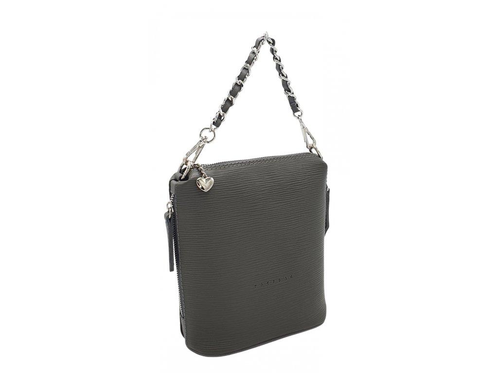 Kožená kabelka Emma malá šedá