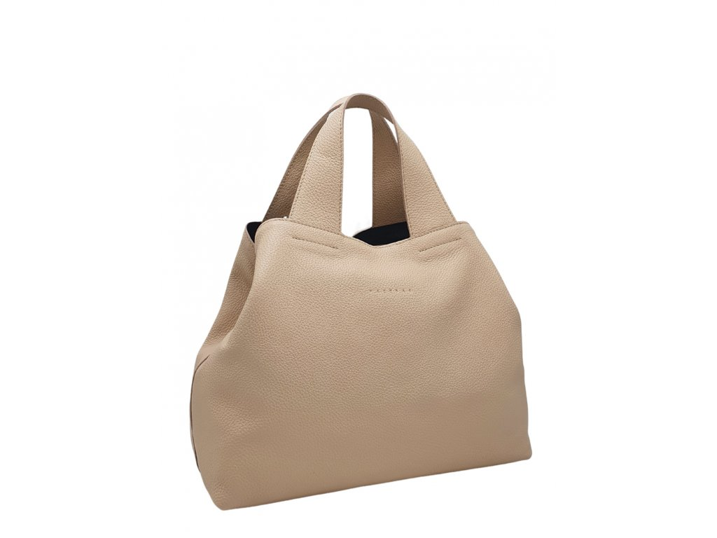 Kožená kabelka pudrová Sofi 8019 (6)