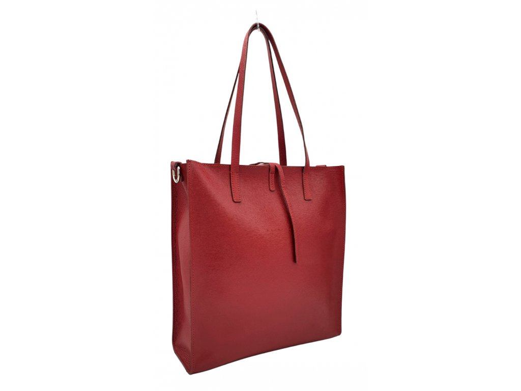 Kožená kabelka červená Reims (1)