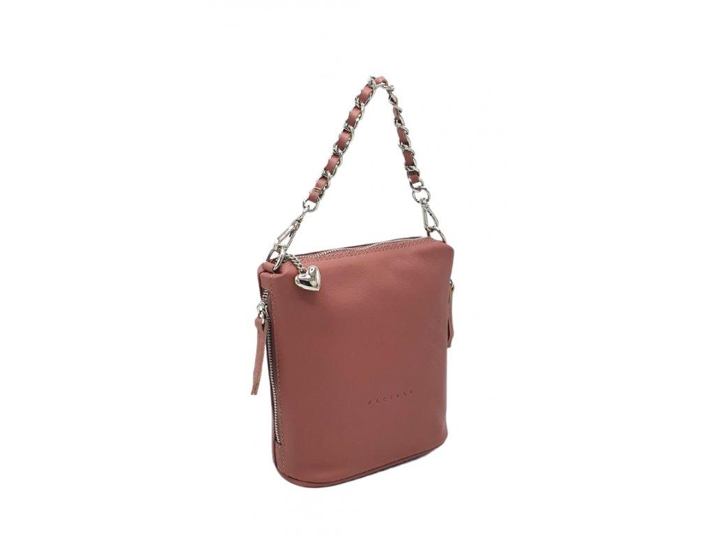 Kožená kabelka Emma malá liliová