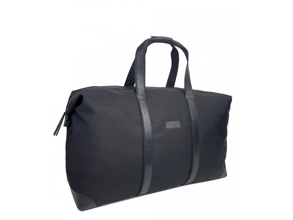 Cestovní taška černá polokožená (2)