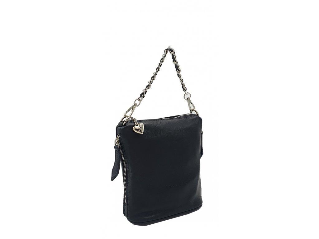Kožená kabelka Emma velká černá hladká