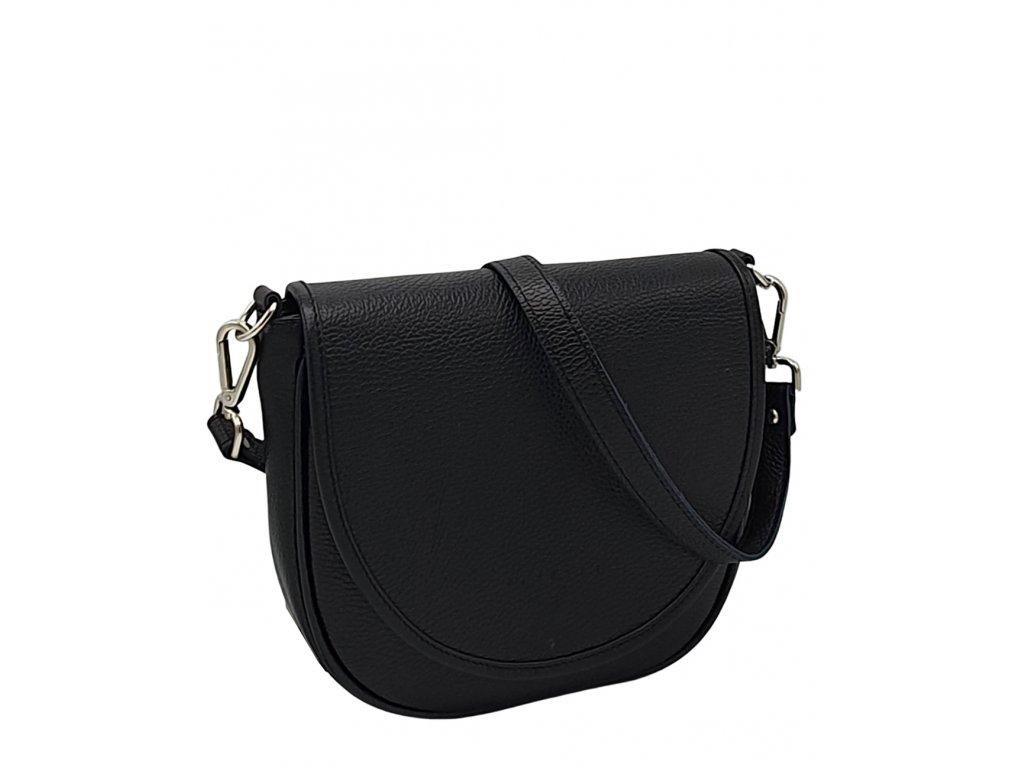 Kožená kabelka Lili černá dolaro