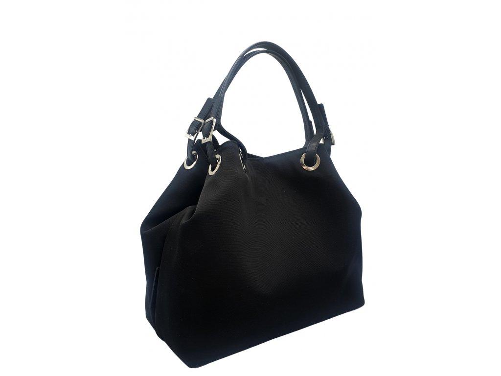Polokožená kabelka Laura černá