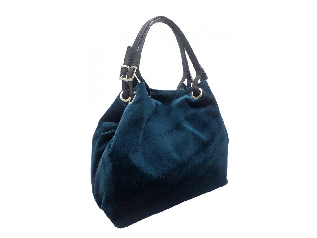 Polokožená kabelka Laura modrá