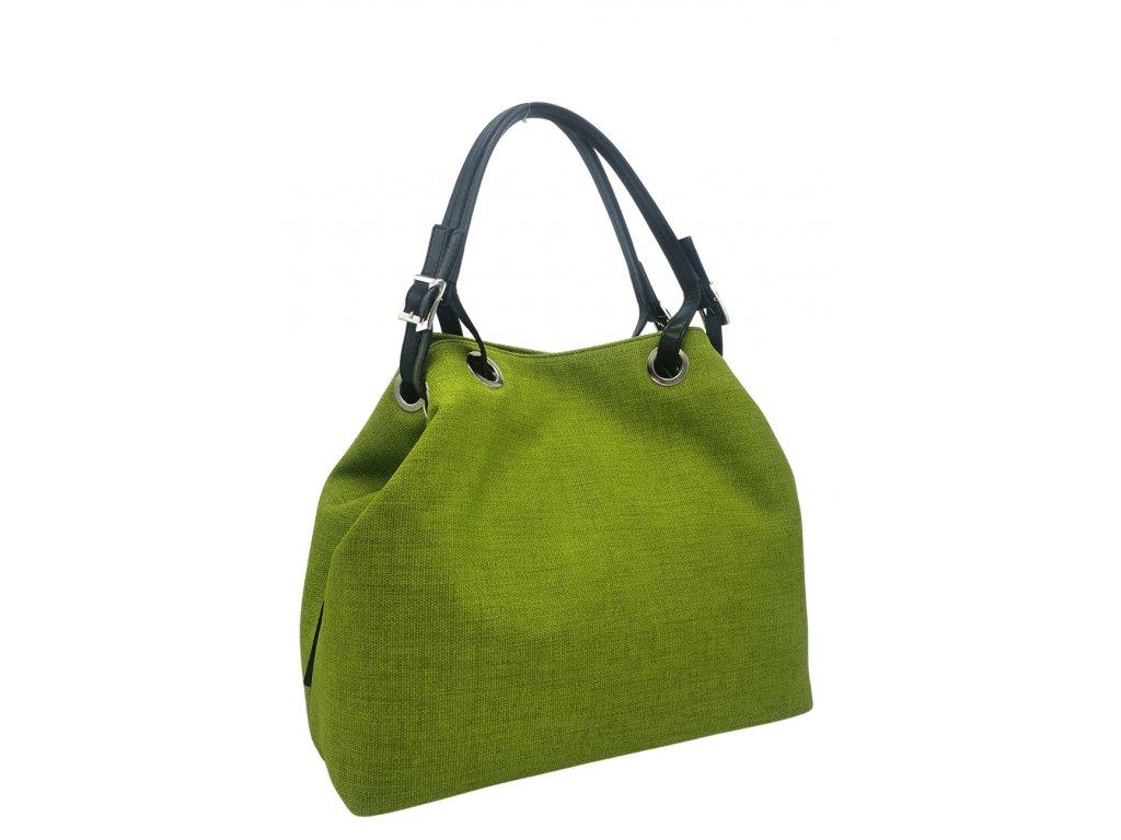 Polokožená kabelka Laura zelená