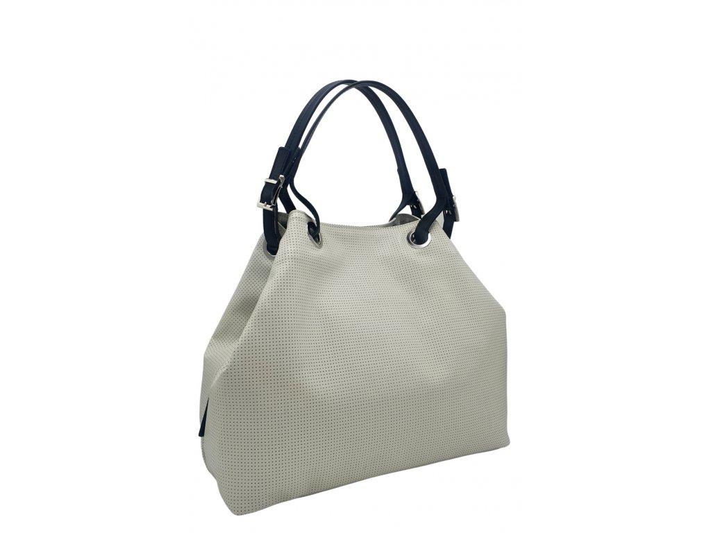 Kožená kabelka Laura bílá