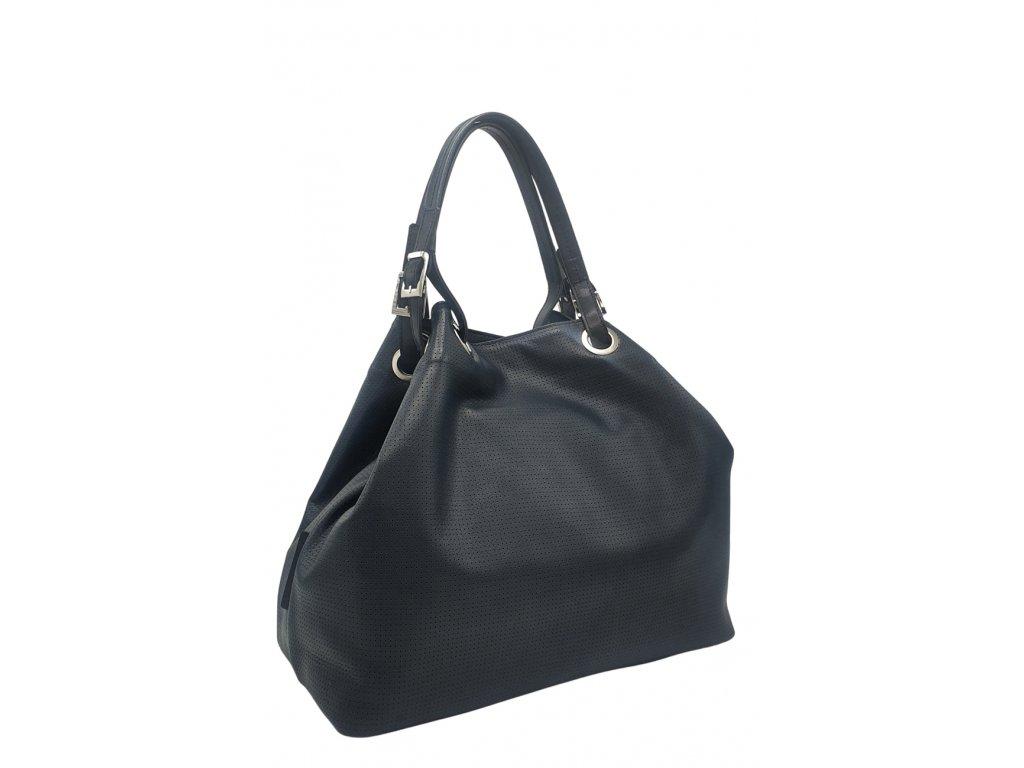 Kožená kabelka Laura tmavě modrá