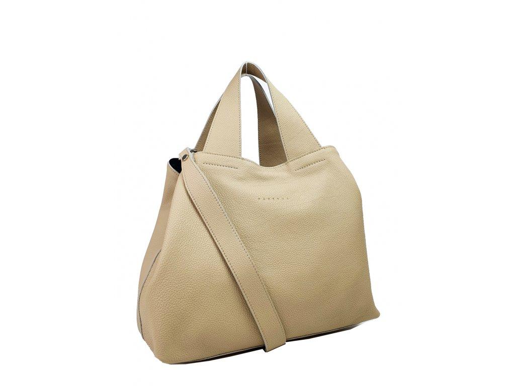 8019 6 damska kozena kabelka facebag sofi bezova dolaro 972x1300