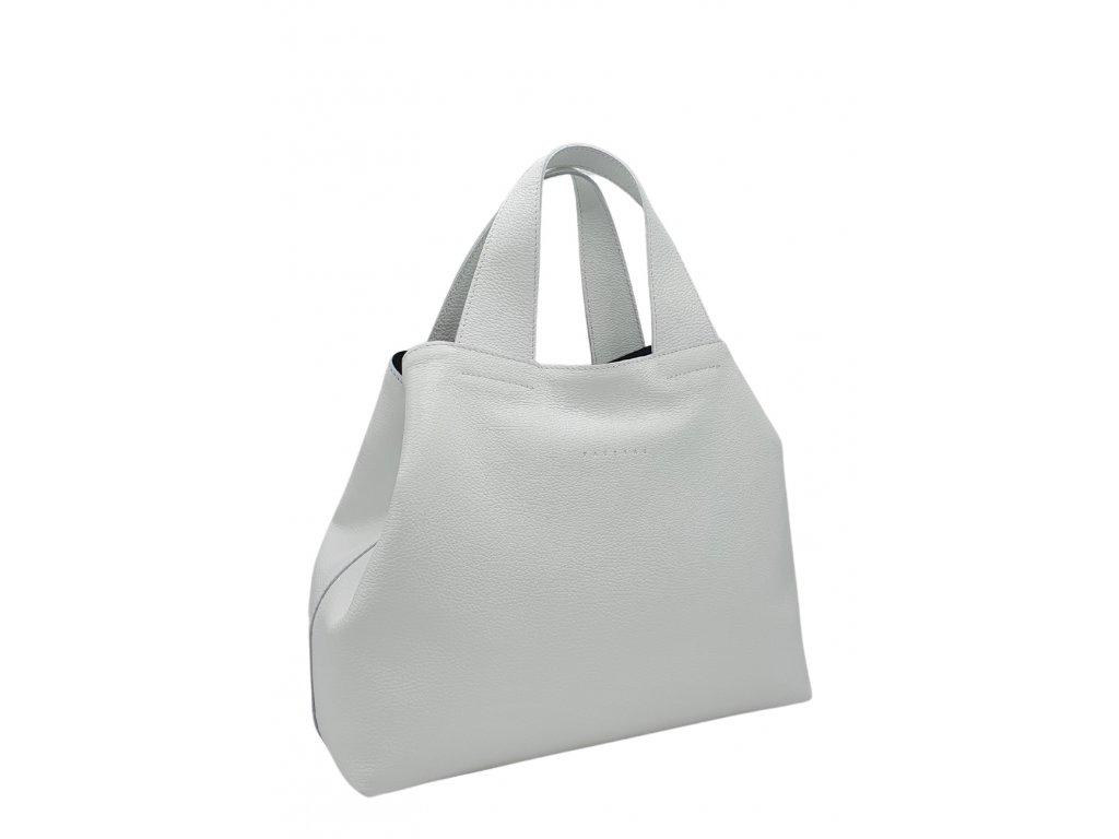 Kožená kabelka bílá Sofi 8019 (4)