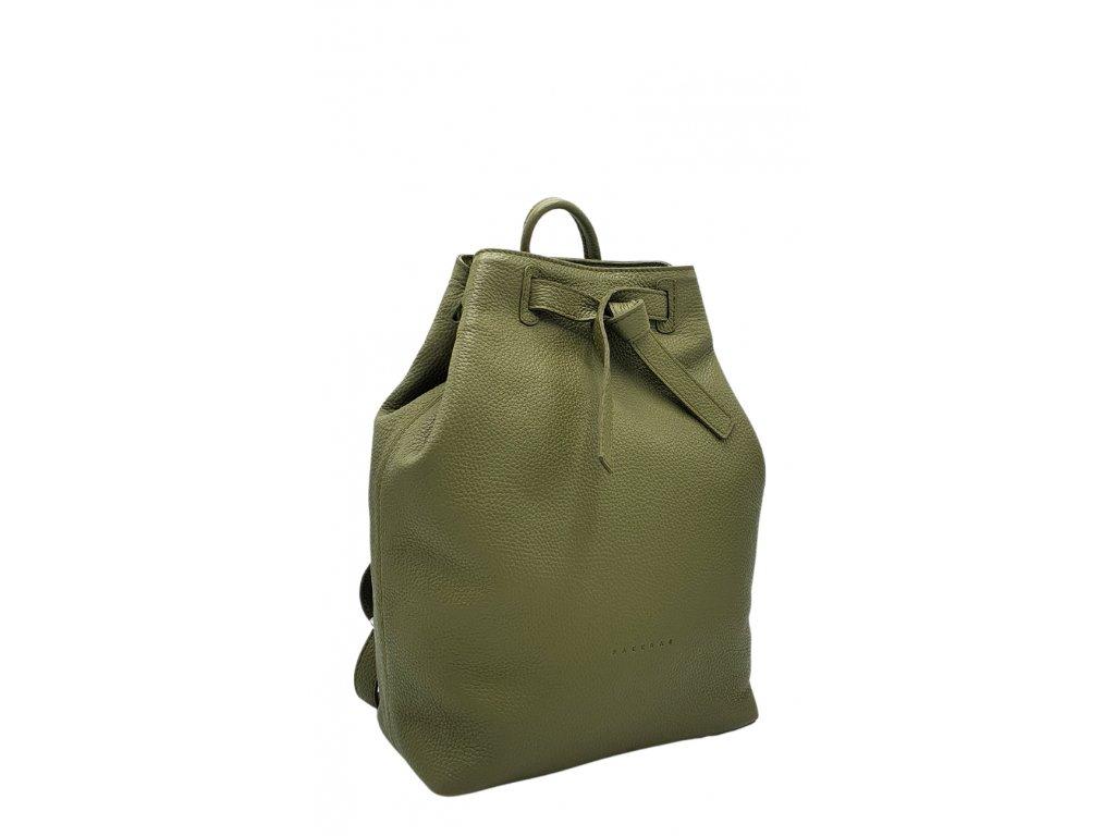 Kožený batoh zelený Elma 8008 (5)