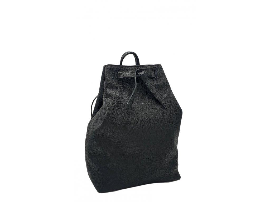 Kožený batoh černý dolaro Elma 8008 (8)
