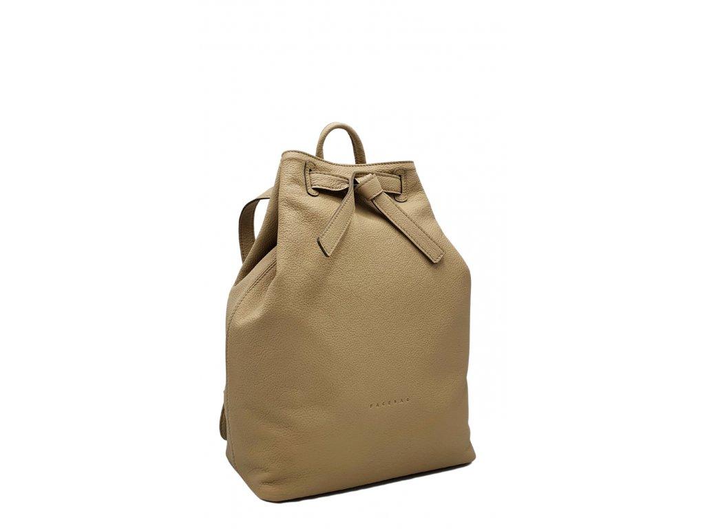 Kožený batoh béžový Elma 8008 (5)