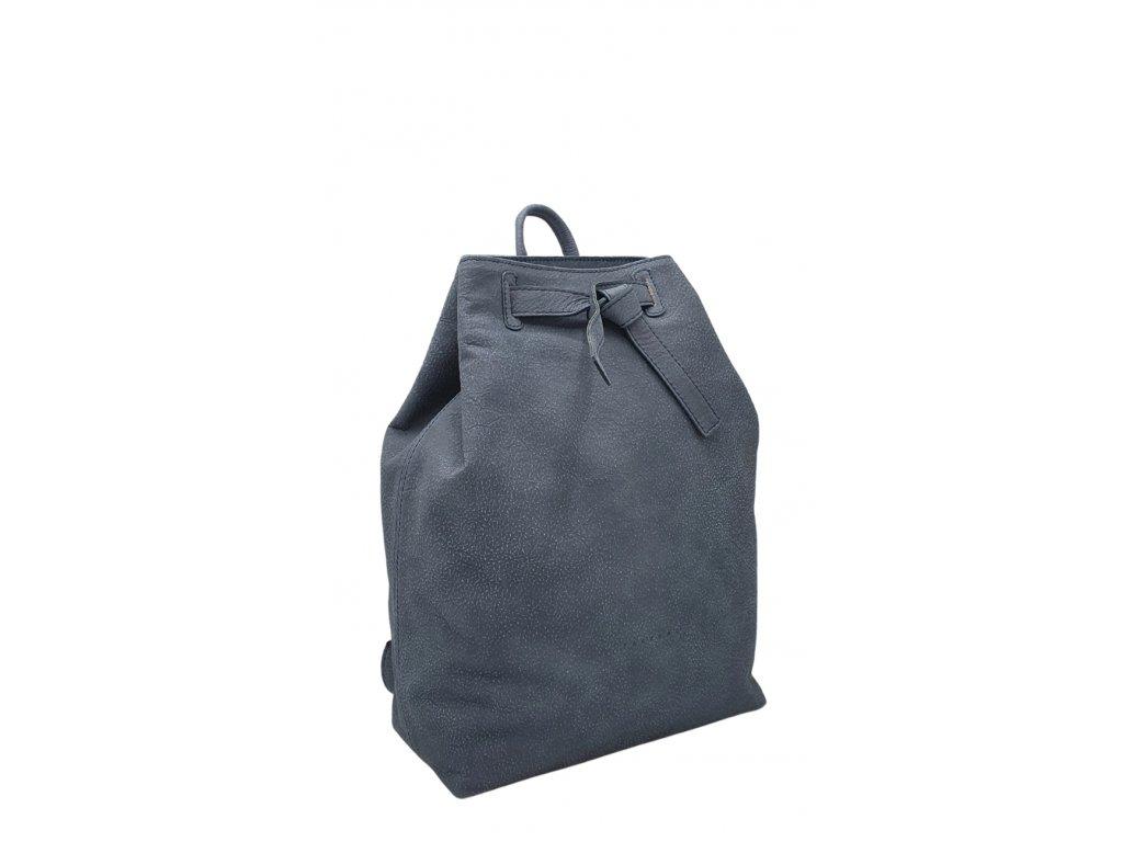 Kožený batoh modrý Elma 8008 (1)