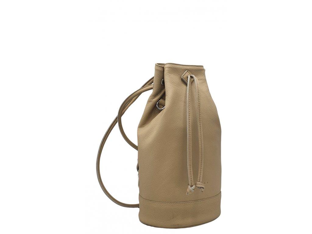 Kožený batoh 7067 béžový
