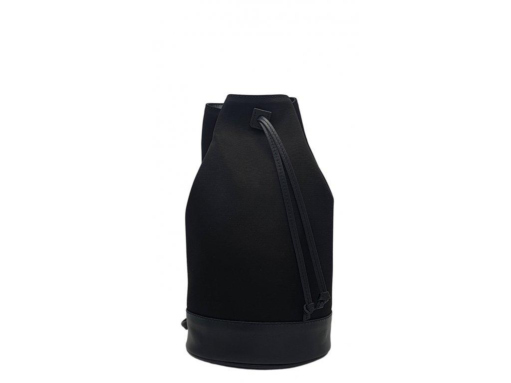 Polokožený batoh 7067 černý (3)