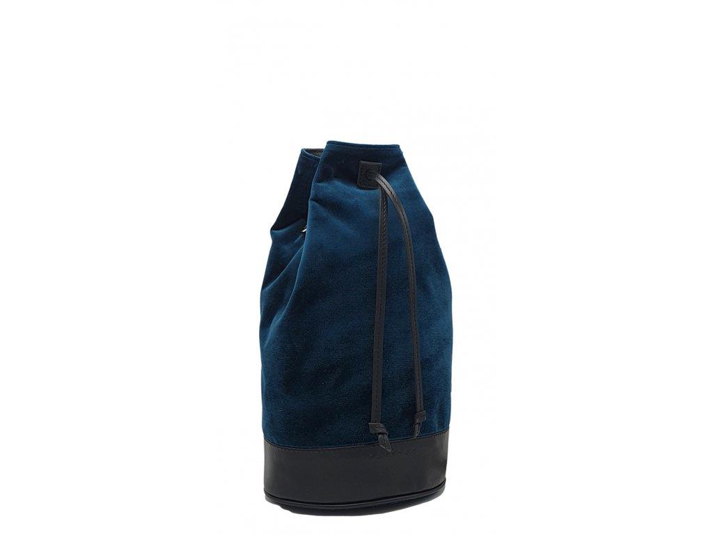 Polokožený batoh 7067 modrý