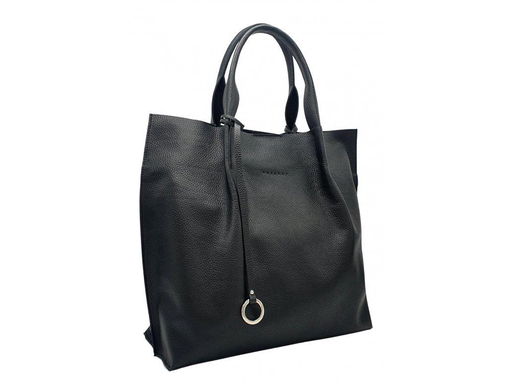 Kožená kabelka přes rameno Adele černá