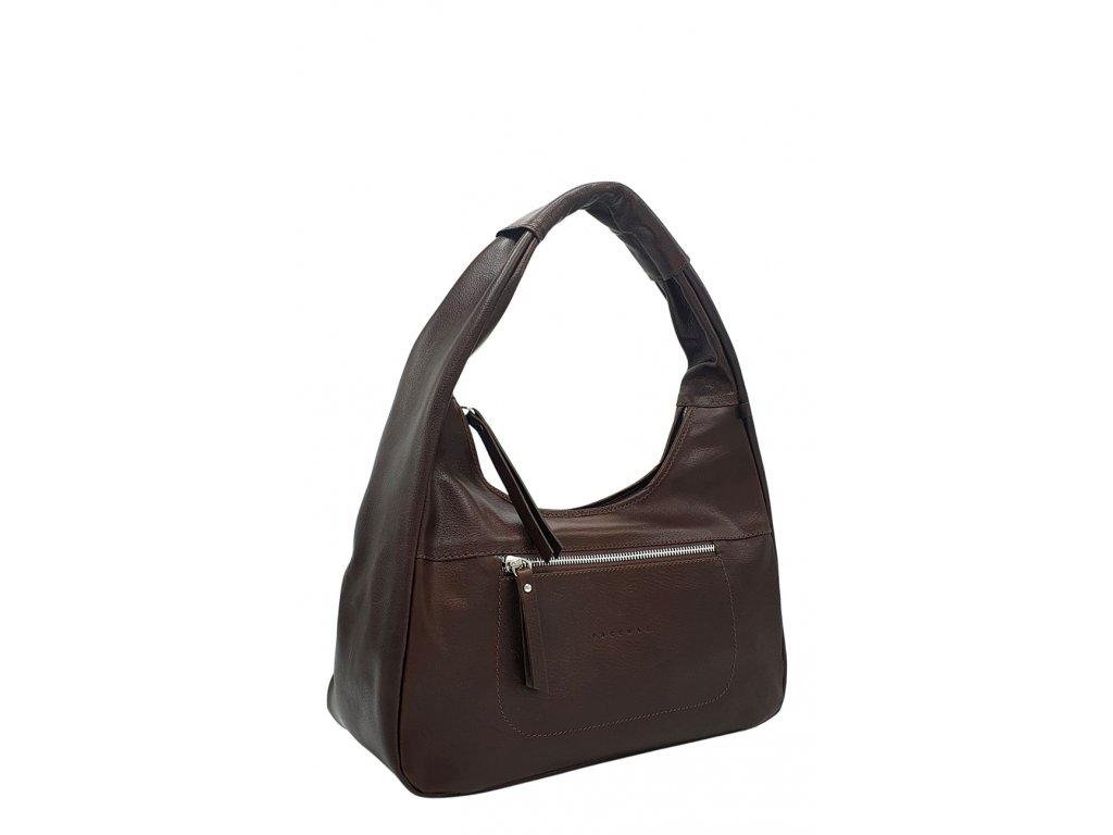 Kožená kabelka přes rameno LYSE vínová