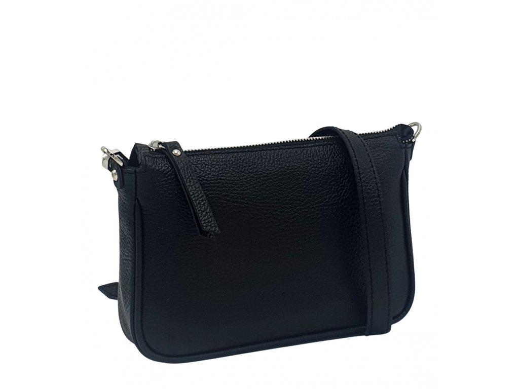 Kožená kabelka GIADA černá