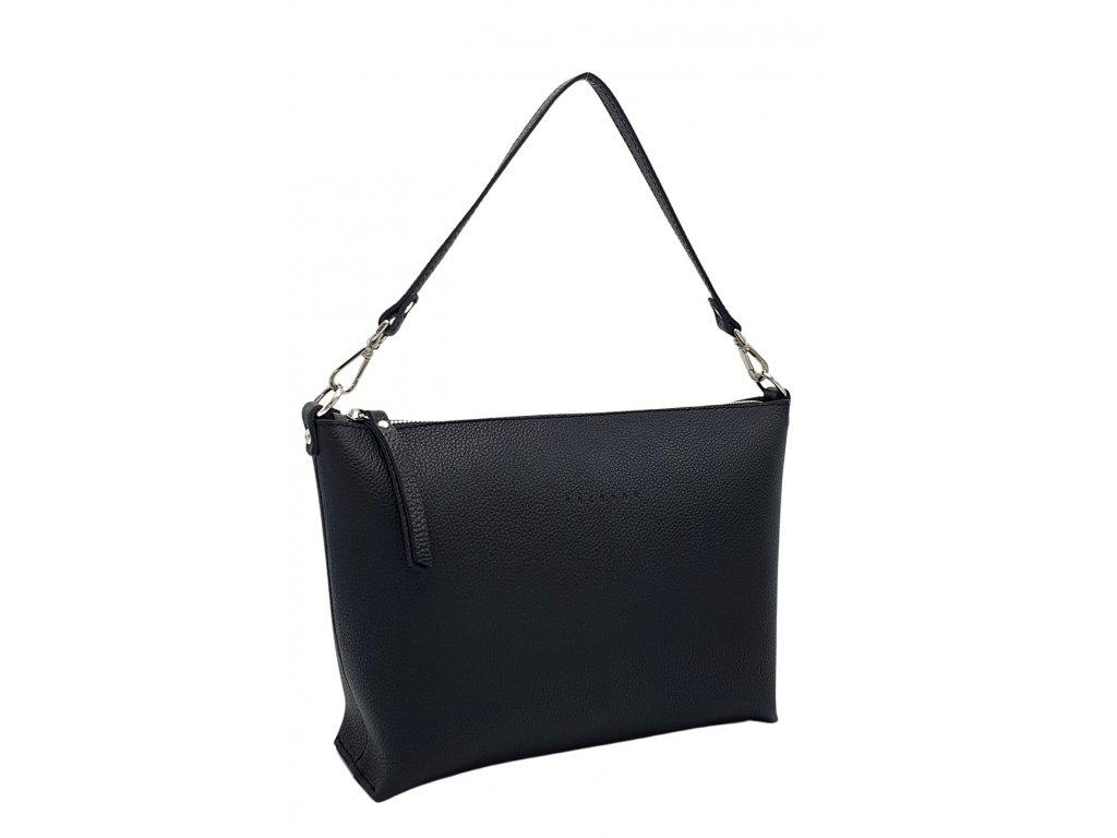 Kožená kabelka Rachel černá oboustranná