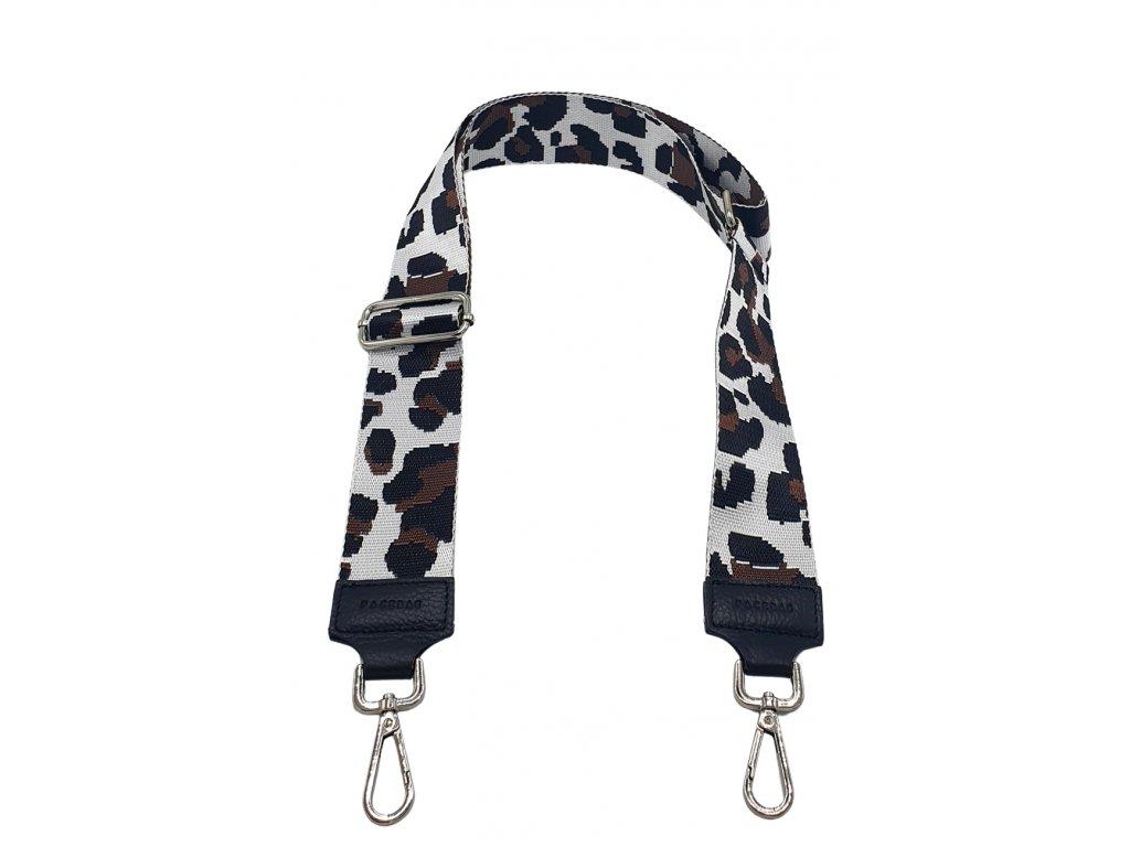 Popruh černý a leopard bílo hnědý (1)