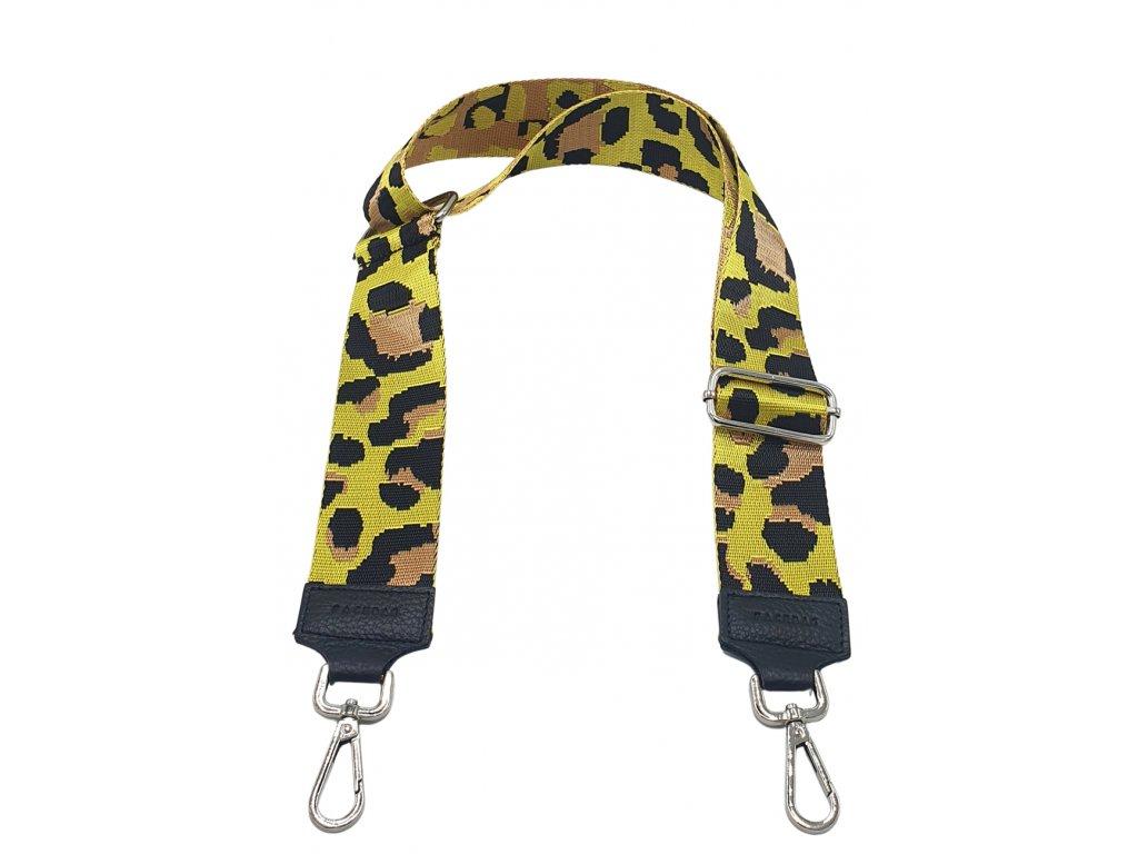 Popruh černý a leopard žlutý (3)