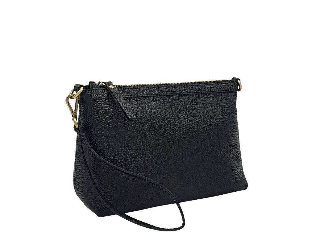 Kožená kabelka černá dolaro s STM (4)