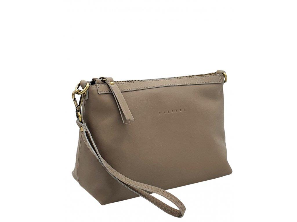 Kožená kabelka šedá se stm (1)
