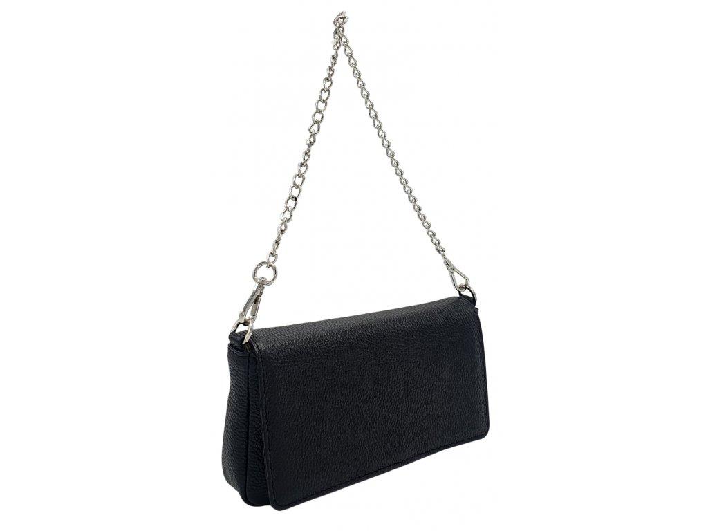 Kožená kabelka BRITA černá