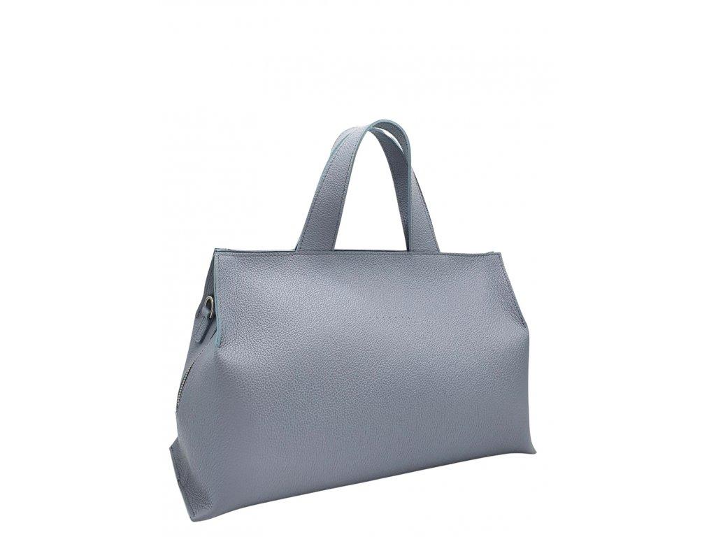 Kožená kabelka SIA modro-šedá