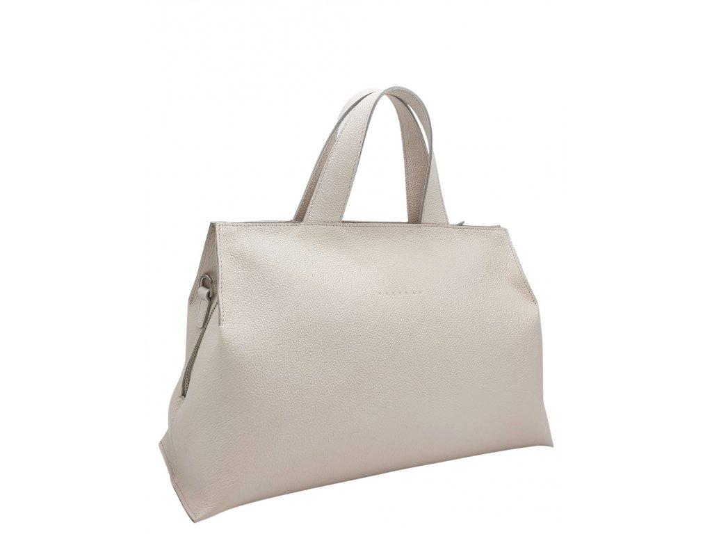 Kožená kabelka SIA béžová