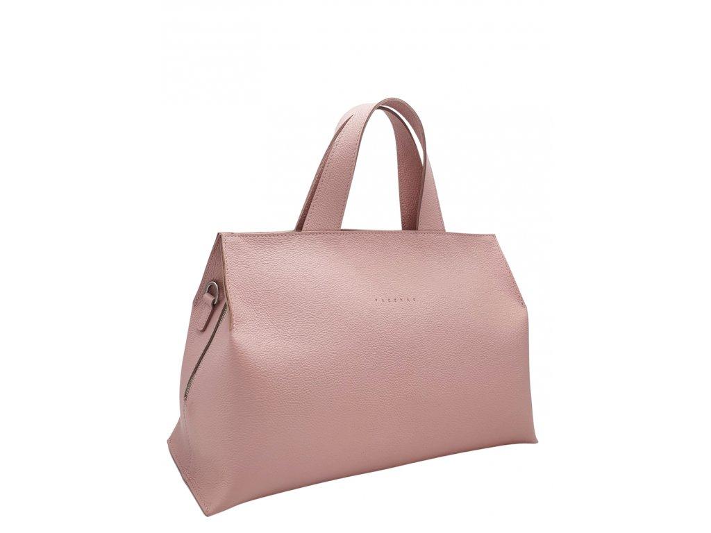 Kožená kabelka SIA liliová