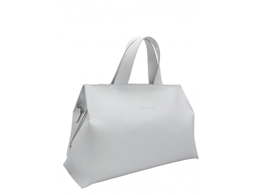 Kožená kabelka SIA bílá
