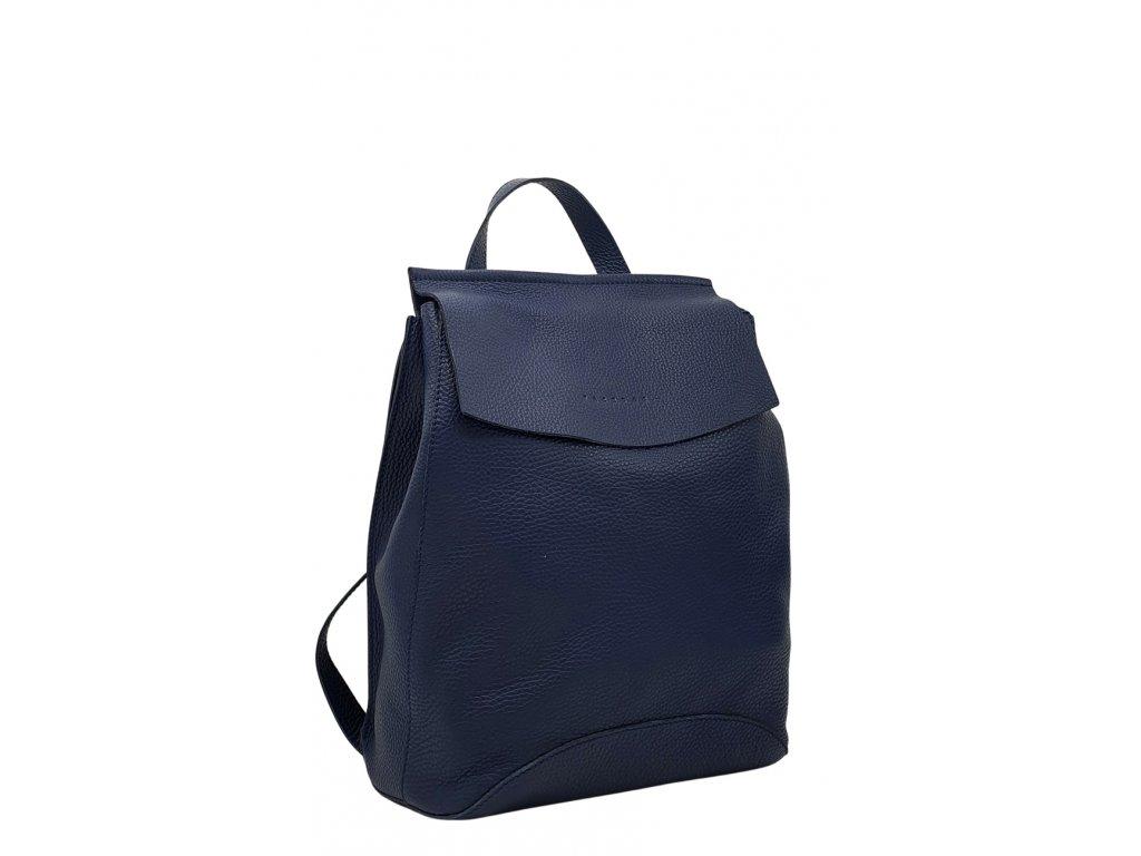 Kožený batoh Kenny tmavě modrý