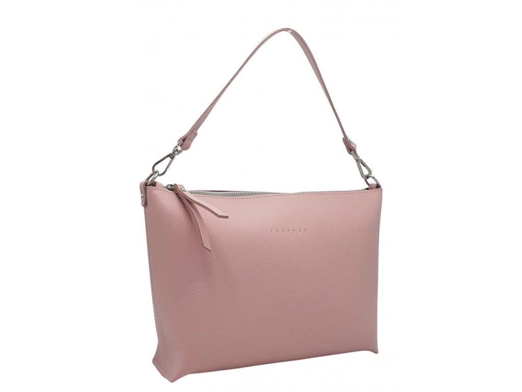 Kožená kabelka Rachel liliová oboustranná