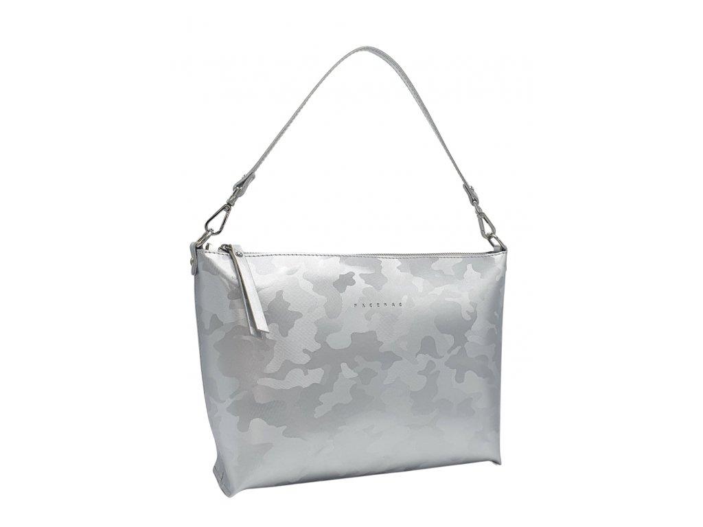Kožená kabelka Rachel stříbrná maskáčová